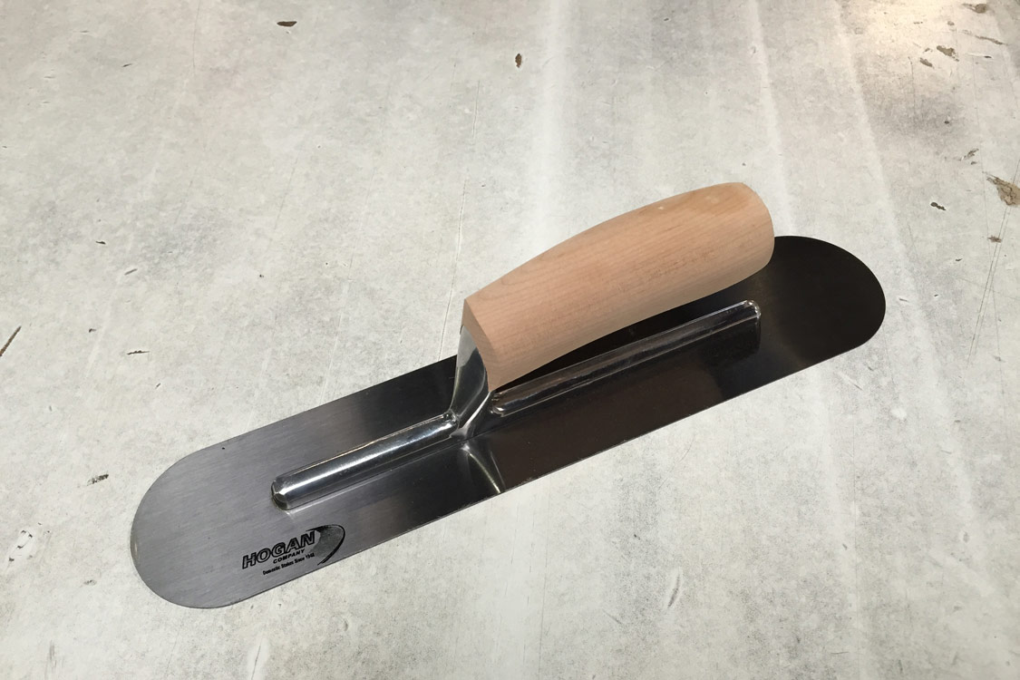 14 X 3 Finishing Trowel Wood Handle Round