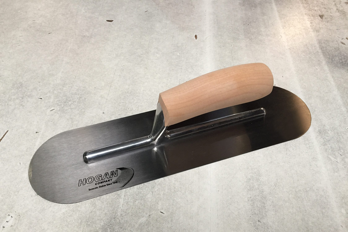 Finishing Trowel - 14 X 4 Rounded With Wooden Handle