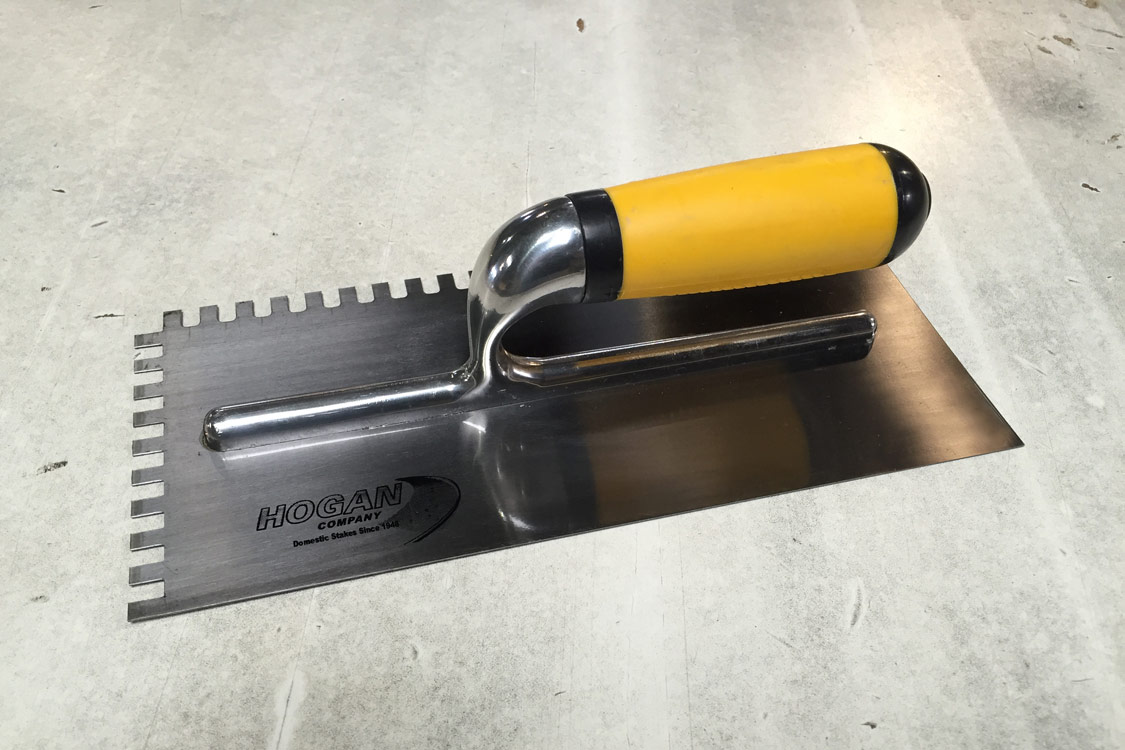 11 X 5 Notched Trowel Comfort-Grip Handle .25 X .25 Toothed