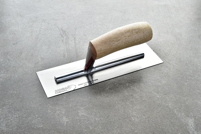 Finishing Trowel, 10 x 3 square - wood handle