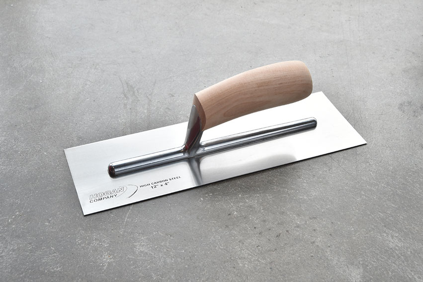Finishing Trowel, 12 x 4 square - wood handle