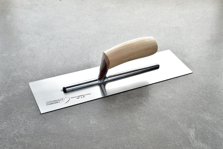 14 X 4 Finishing Trowel Wood Handle Square