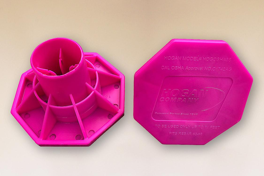 OSHA Rebar Caps Pink